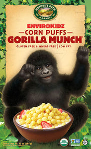 Nature`s Path Envirokidz Organic Gorilla Munch Corn Puffs 275g