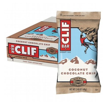 Clif Bar Coconut Choc Chip Energy Bars - 12x68g