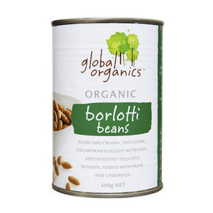 Global Organics Borlotti Beans (BPA Free Can) 400g