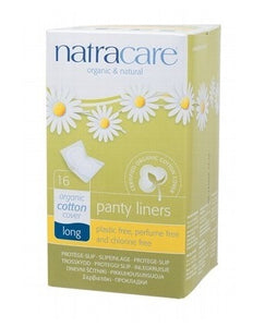 Natracare Organic Panty Liners Long 16 pack