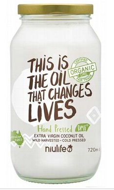 Niulife Organic Extra Virgin Coconut Oil 720g