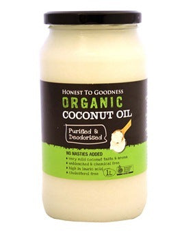 Honest To Goodness Deodorised Organic Coconut Oil 1L