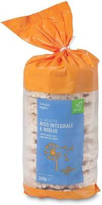 Ecor Organic Wholegrain Rice Cakes with Millet 200g