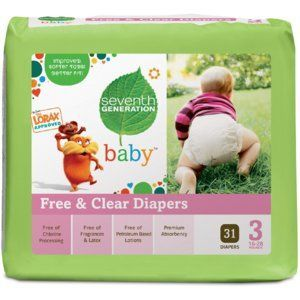 Seventh Generation Diapers Stage 3 (7-12kg) 31pk
