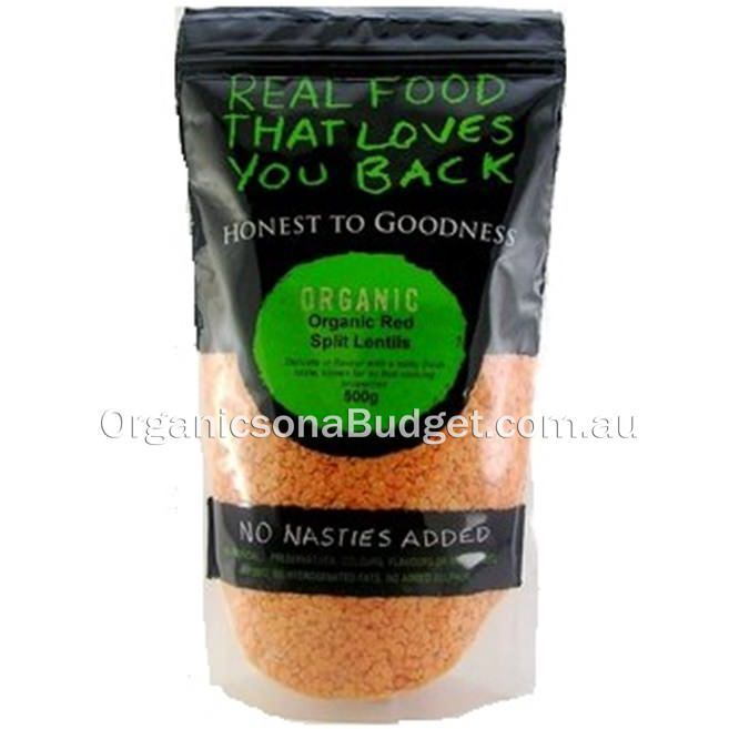 Honest To Goodness Organic Red Split Lentils 500g