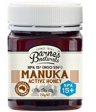 BARNES NATURALS Manuka Active Honey NPA15+ (MGO 514+) - 250g