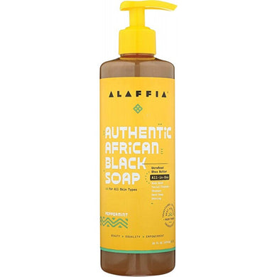 Alaffia African Black Soap All-In-One Peppermint 475ml