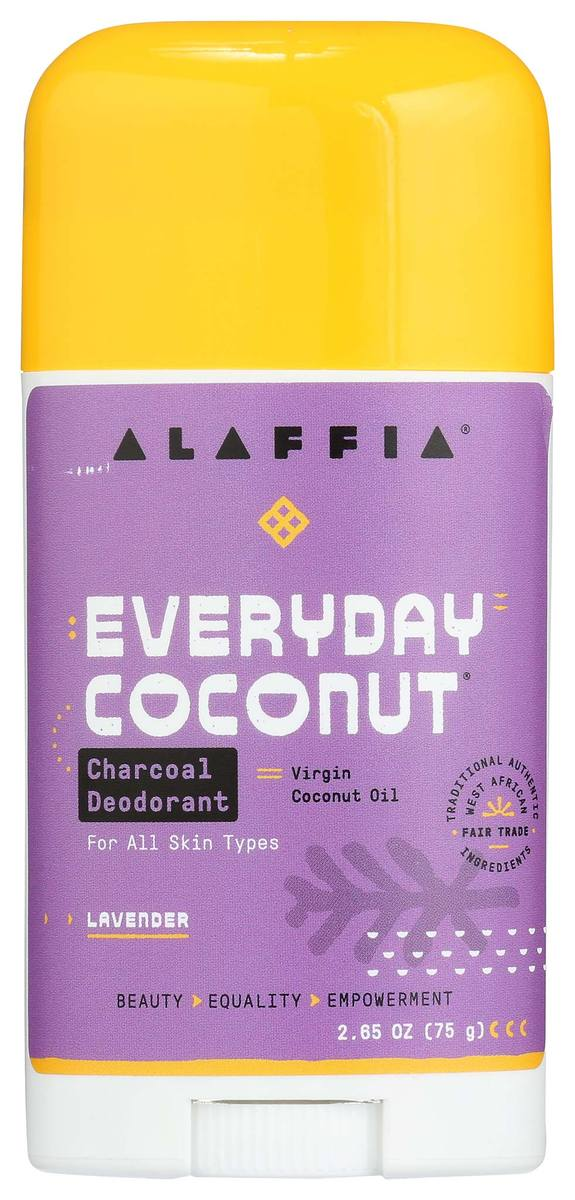 Alaffia Everyday Coconut Deodorant  - Charcoal & Lavender 75g