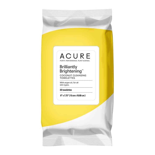 ACURE Brilliantly Brightening Coconut Towelettes - x30