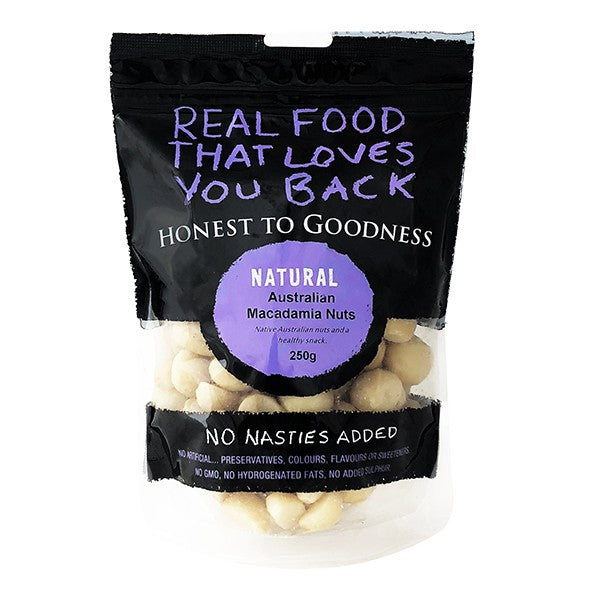 Honest To Goodness Australian Raw Macadamias 250g