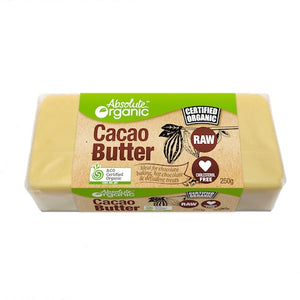 Absolute Organic Raw Cacao Butter Block 250g