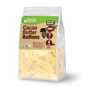 Absolute Organic Raw Cacao Butter Buttons 250g