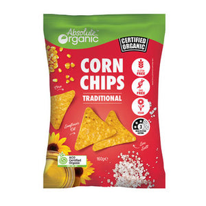 Absolute Organic Corn Chips with Sea Salt 160g