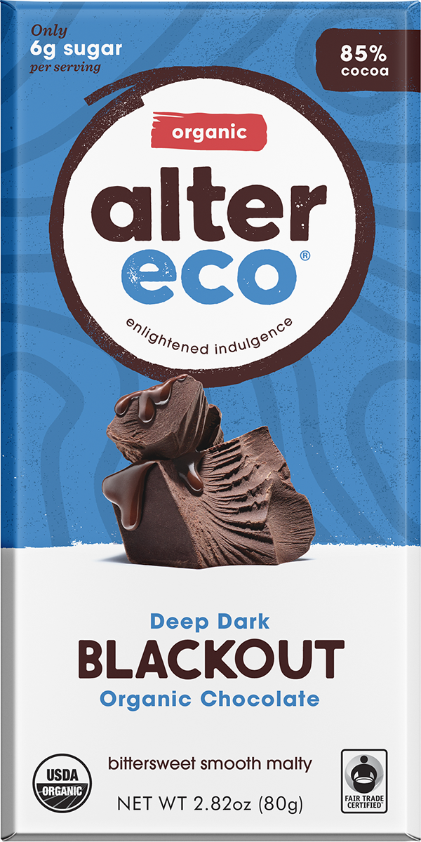 Alter Eco Organic 85% Dark Chocolate 80g