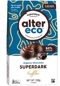 Alter Eco Organic Super Dark Cacao Truffles 108g