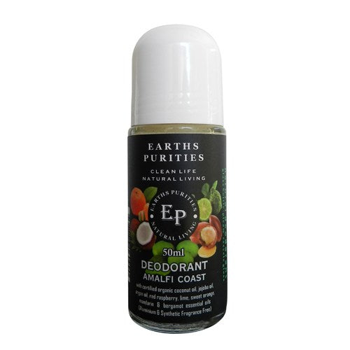 Earths Purities Mens Amalfi Roll on Deodorant 50g