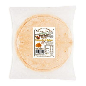 Ancient Harvest Organic Spelt & Chick Pea with Turmeric Wraps 220g