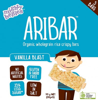 Mighty Bellies Aribar Vanilla Blast Bars 5pk 120g