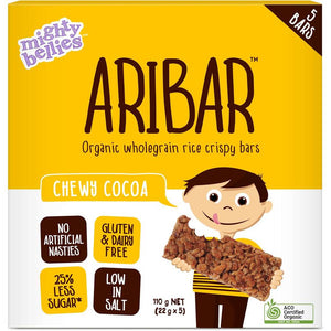 Mighty Bellies Aribar Chewy Choc Bars 5pk 120g