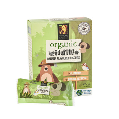 Byron Bay Cookies Organic Wildlife Biscuits Banana 10 x 10g