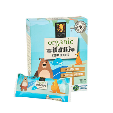 Byron Bay Cookies Organic Wildlife Biscuits Cocoa 10 x 10g