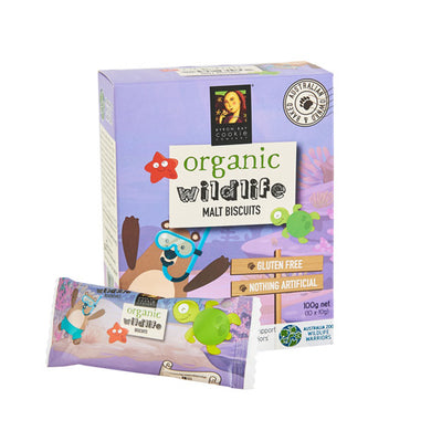Byron Bay Cookies Organic Wildlife Biscuits Malt 10 x 10g