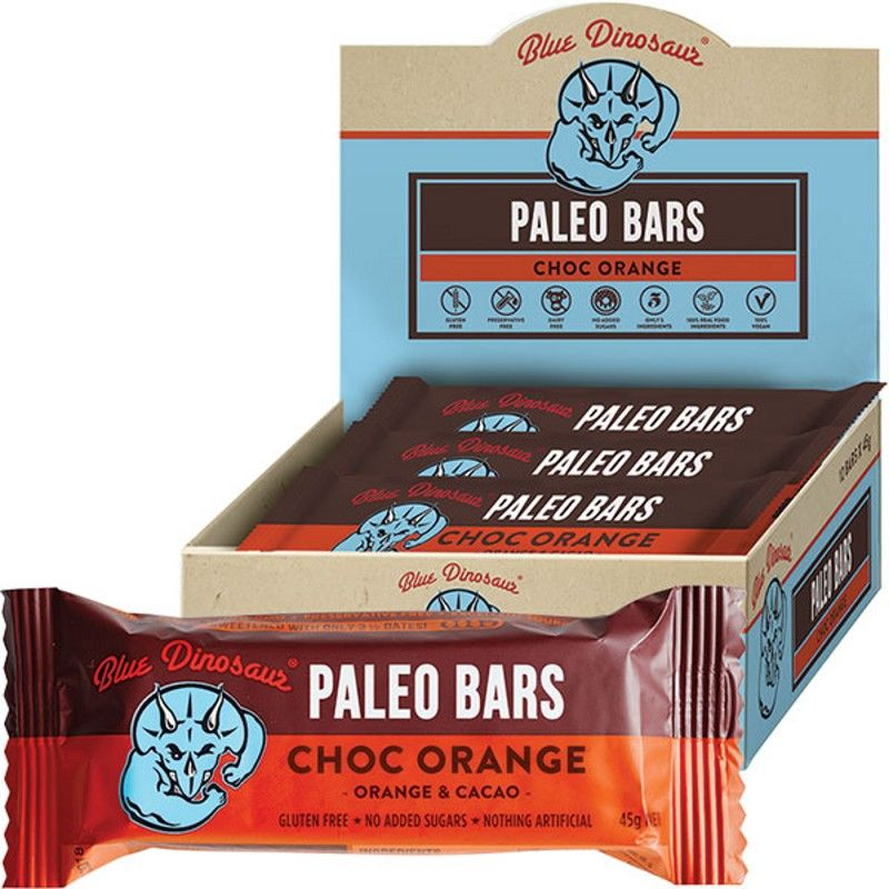 Blue Dinosaur Choc Orange (Paleo Bar) 12x45g
