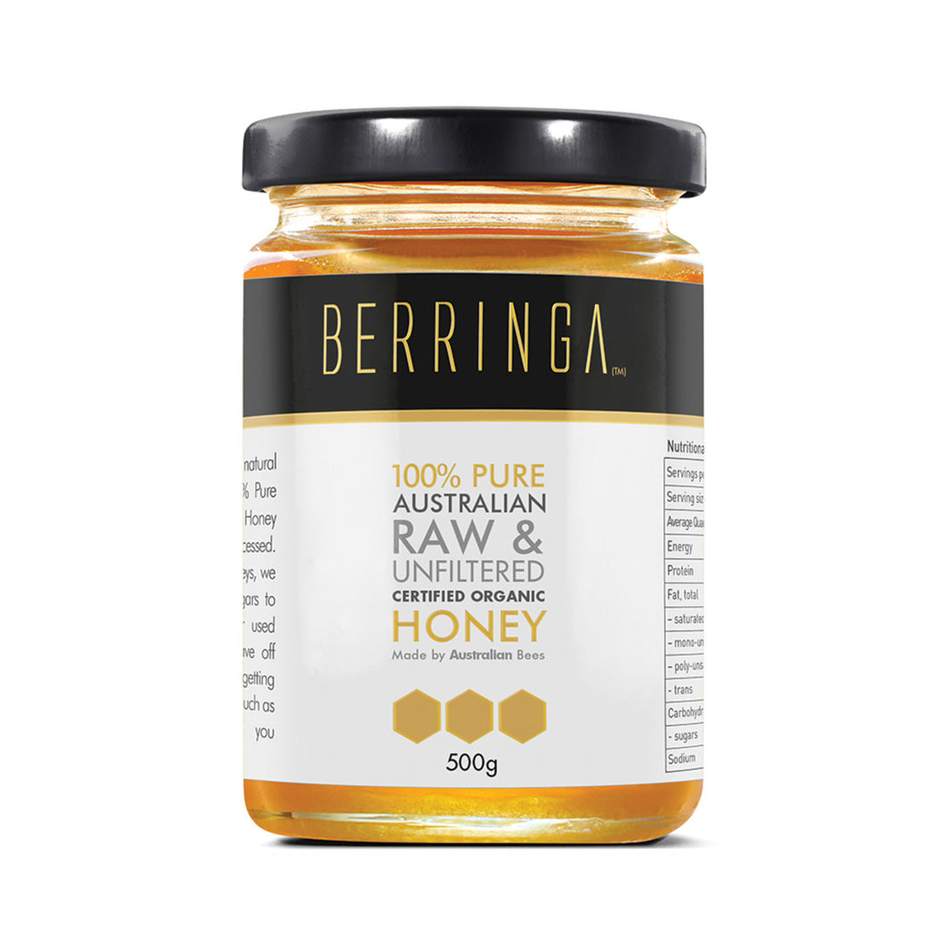 Berringa Raw Organic Honey 500g