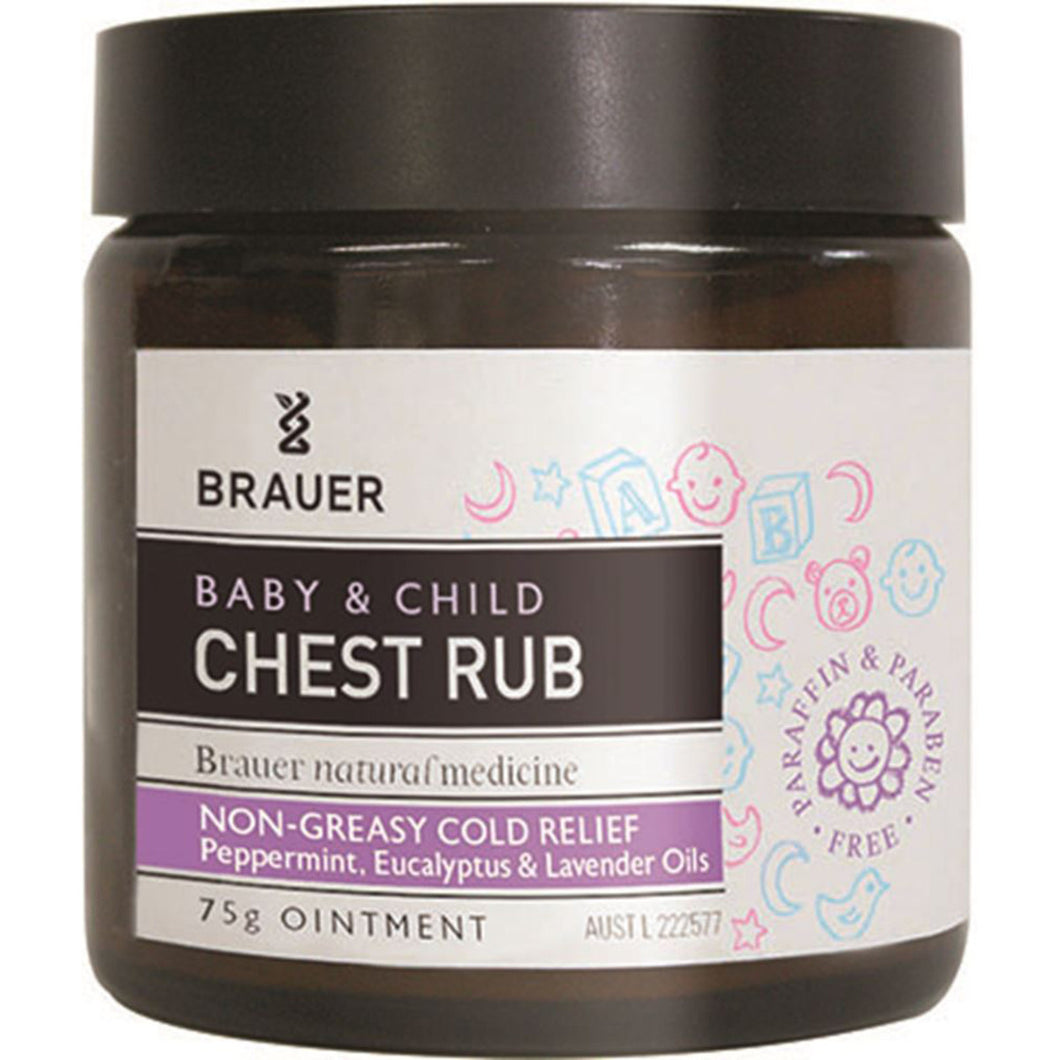 Brauer Baby and Child Chest Rub Non Greasy Cold Relief 75g