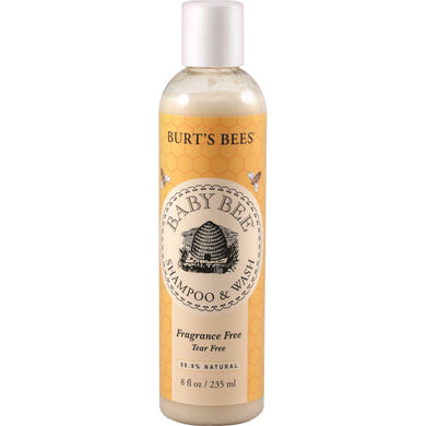 Burts Bees Baby Bee Shampoo and Wash Fragrance Free 235ml