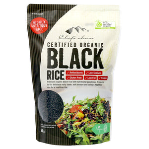 Chef's Choice Certified Organic Black Rice 500g