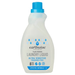 Earthwise Laundry Liquid Fragrance Free 1L