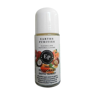 Earths Purities Ladies Exotic Sunset Roll On Deodorant 50g