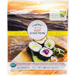 Gold Mine Sushi Nori Organic Raw (10 Sheets) 25g