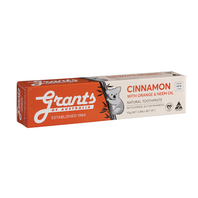 Grants Toothpaste Cinnamon Zest with Neem Oil 110g