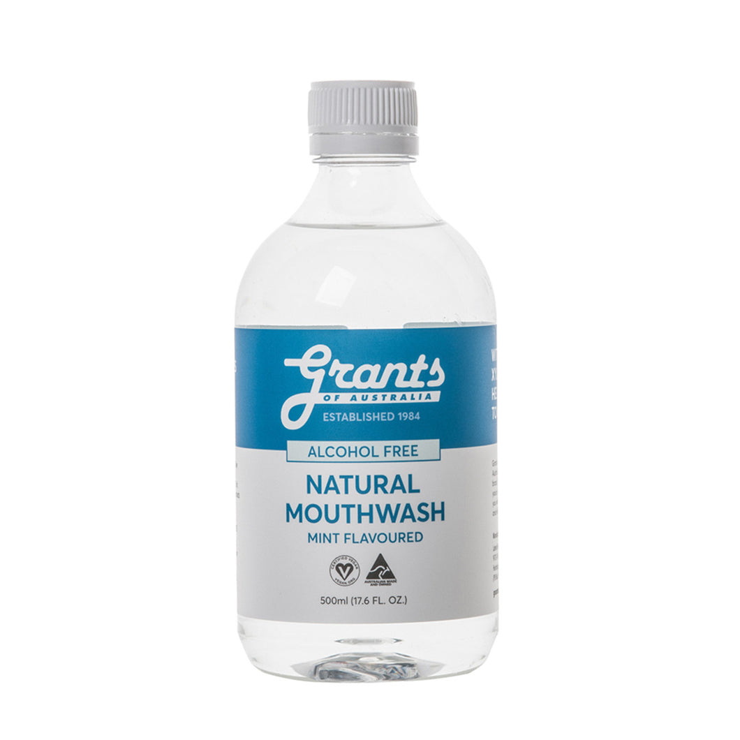 Grants Natural Xylitol Mouthwash Alcohol Free 500ml