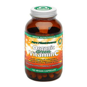 Green Nutritionals Organic Green Vitamin C Capsules (600mg) - 120 Caps