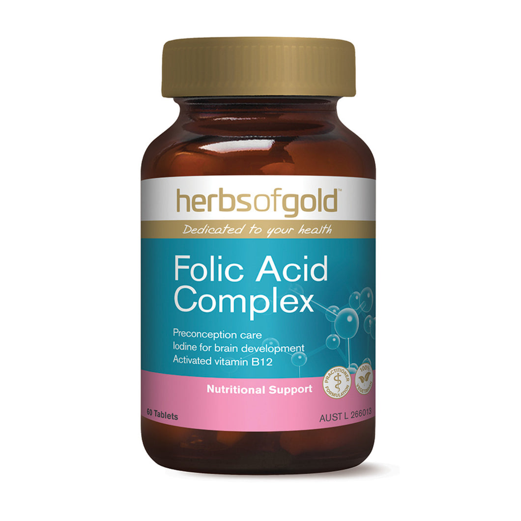 Herbs of Gold Folic Acid Complex 60 tablets