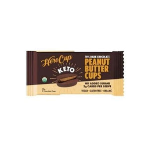 Herocup Peanut Butter Cups 70% Dark Chocolate - Keto 36g