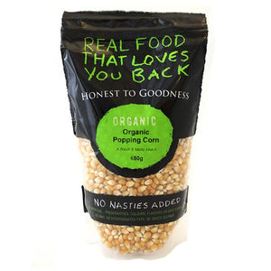 Honest To Goodness Organic Popping Corn (Popcorn) 650g