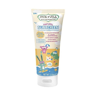 Jack n' Jill Natural Sunscreen (Babies & Kids) SPF 30 UVA & UVB Broad Spectrum - 100g