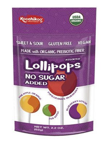 Koochikoo Organic Sugar Free Lollipops 10 pack