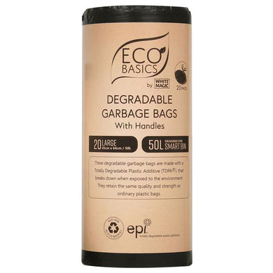 White Magic Eco Basics Garbage Bags Large 20 x 50L