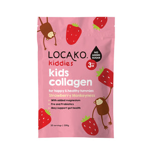 Locako Kiddies Kids Collagen Strawberries Monkeyness 200g
