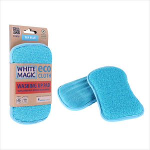 White Magic Washing Up Pad Sea Blue 1Pk