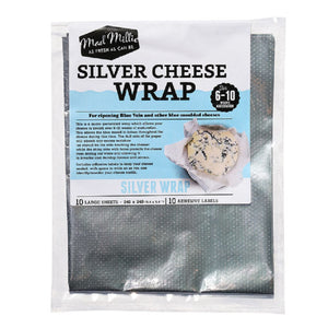 Mad Millie Silver Cheese Wrap (240x240mm sheets) x 10 Pack