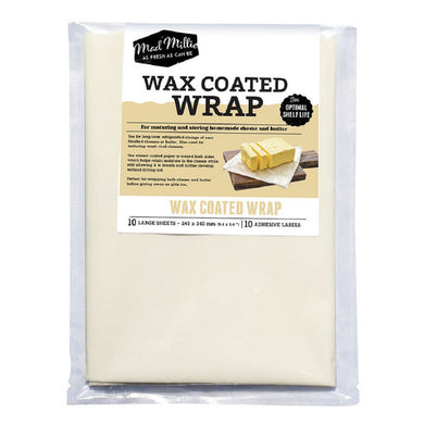 Mad Millie Wax Coated Wrap (240x240mm sheets) x 10 Pack