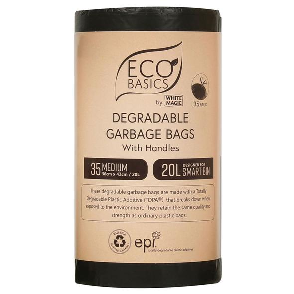 White Magic Eco Basics Garbage Bags Medium 35 x 20L