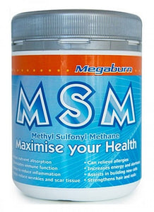 Megaburn MSM powder 400g SALE 10% OFF