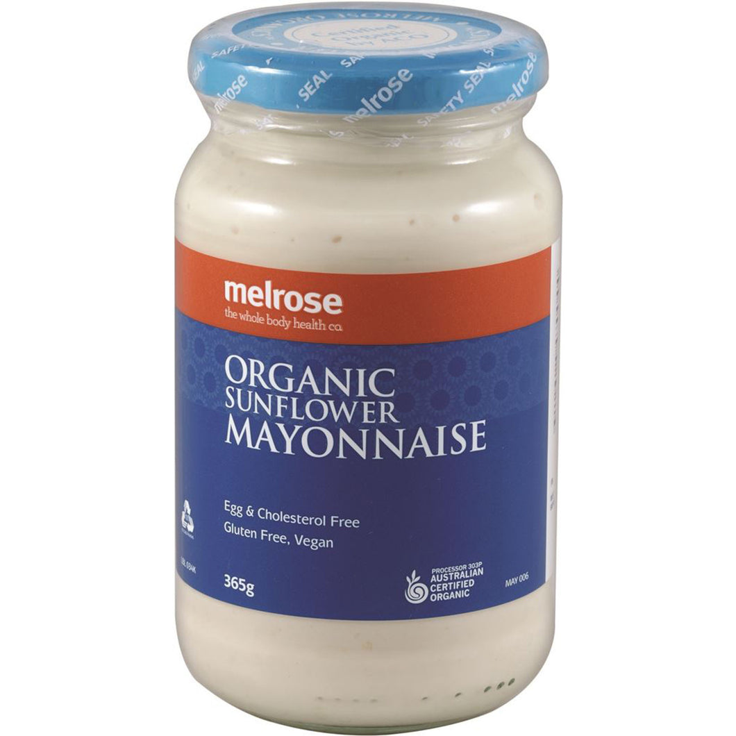 Melrose Organic (Egg Free) Sunflower Mayonnaise 365g